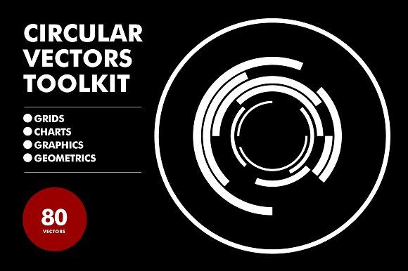 Circular Vectors Toolkit - 80 items by Offset on @creativemarket
