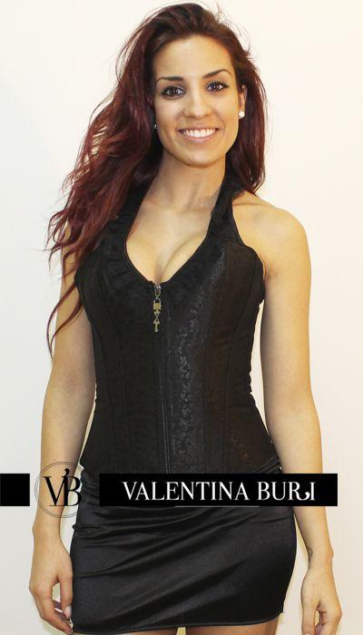 #Corset cisne negro con tirantes, discreto y elegante con efecto #reductor de cintura http://www.valentinaburi.com/es/list/category/corses #ropa #moda