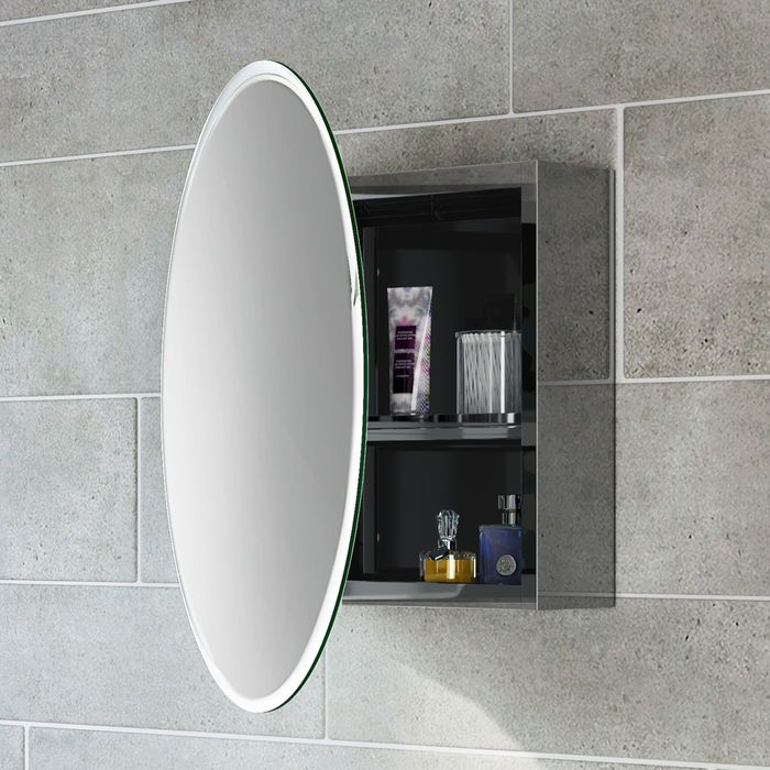 500 X500 Round Liberty Stainless Steel Mirror Cabinet Mirror Cabinets Bathroom Mirror Storage Bathroom Mirror Cabinet