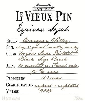 Le Vieux Pin Equinoxe Syrah 2009
