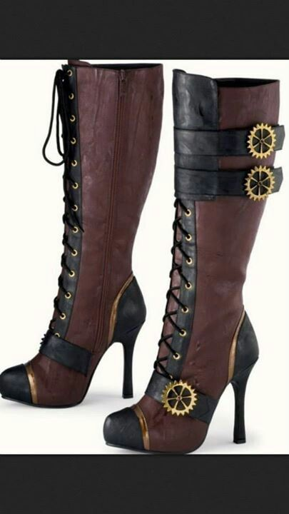Steam punk boots! Love love LOVE!!