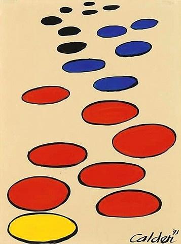Alexander Calder, At Last a Yellow Saucer