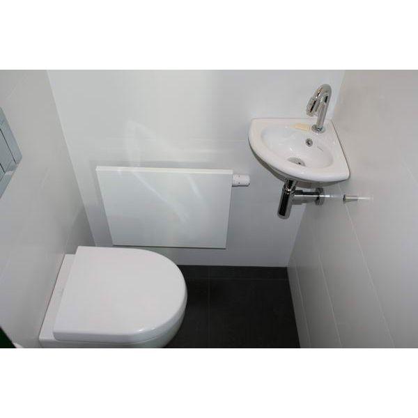 Wasbak, tegels, radiator in het toilet  Woonidee  Pinterest  Toilets, Sear # Wasbak Toilet_215206