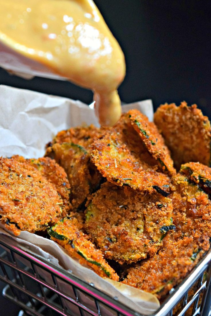 Baked Zucchini Parmesan Chips - Cookilicious