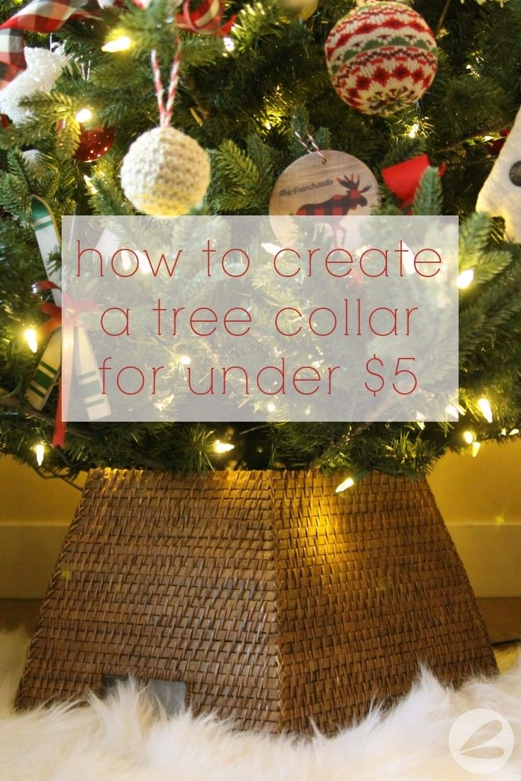 How To Create A Tree Collar For Under 5 Homemade Heather Tree Collar Tree Collar Christmas Christmas Tree Stand