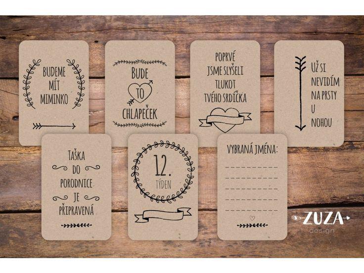 Milníkové kartičky jsou perfektní a stylovou pomůckou kzachycení nejdůležitějších momentů vašeho těhotenství.