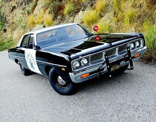 Dodge Challenger Police Car   1969 Dodge Polara CHP