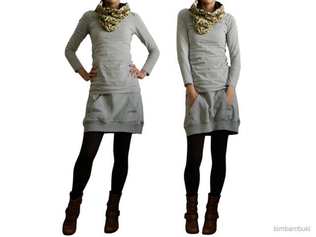 upcycled sweatshirt skirt - bimbambuki