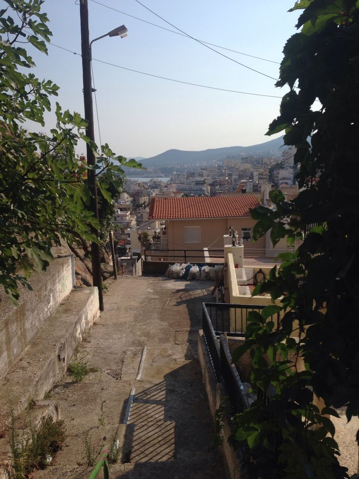 Great view of Kavala city from the house near Profitis Hlias church.