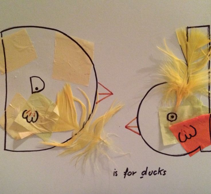 D Is For Ducks Pieces Of Tissue Paper And Feathers Bodhi Treetissue Paperduckstreesnurseryalphabetfeathersday