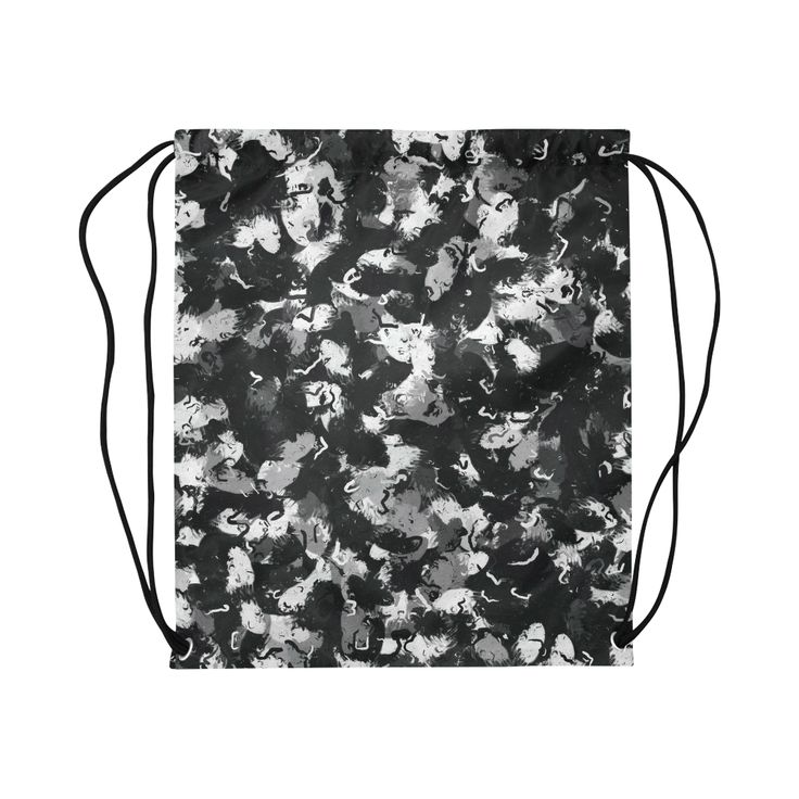 Shades of Gray  and Black oils 1979 drawstring bag