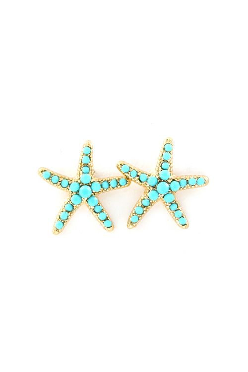 Turquoise Starfish Earrings Perfect For Summer Accessories Pinterest Jewelry And Fashion