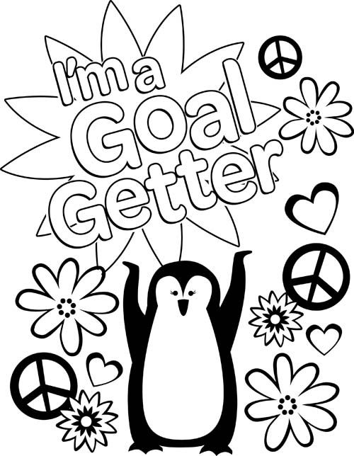 i am a goal setter coloring sheet girl scouts cookie goals brownie scouts