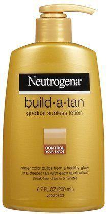 Neutrogena Build-A-Tan Gradual Sunless Tanning-6.7 oz (Quantity of 3) by Unknown. $78.00
