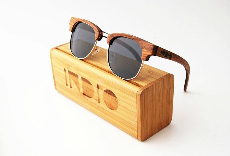 """FINN brown are now in stock! Lenses Optical Attribute: Gray Polarized Frame Material: (Layered)Peer wood and ebony wood 47-24-145(lens width-nose width-temple length) #indioeyewear #finn #woodensunglass #handcrafted"" @indioeyewear"