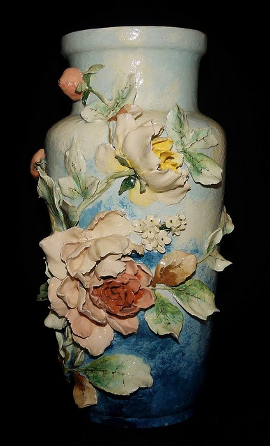 "19"" French Barbotine  Majolica Vase by My Beautiful Barbotine, via Flickr"