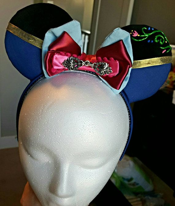 Anna Inspired Princess Mouse Ears by DoodadsByDesign on Etsy