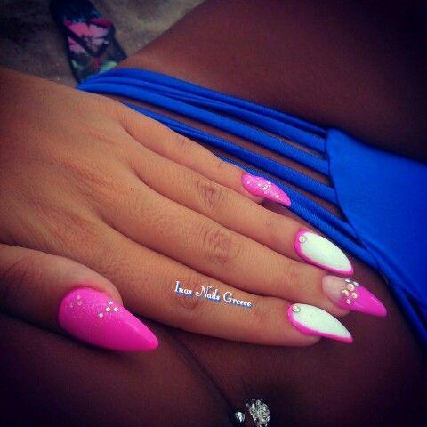 #fuchsia #stiletto #nails