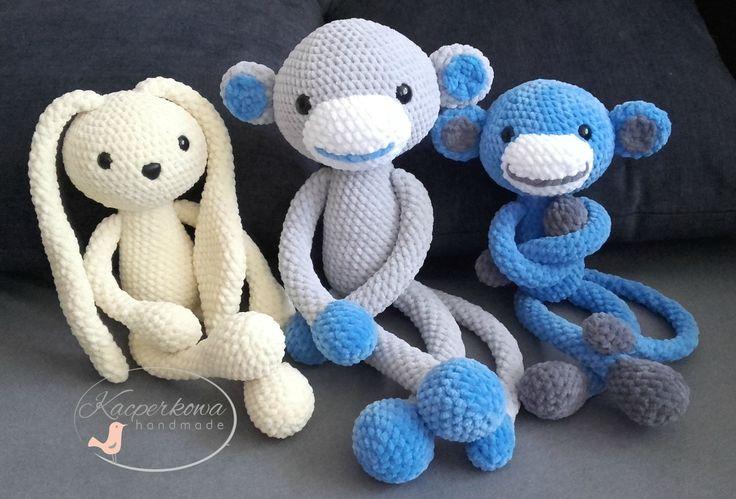 amigurumi crochet monkey rabbit