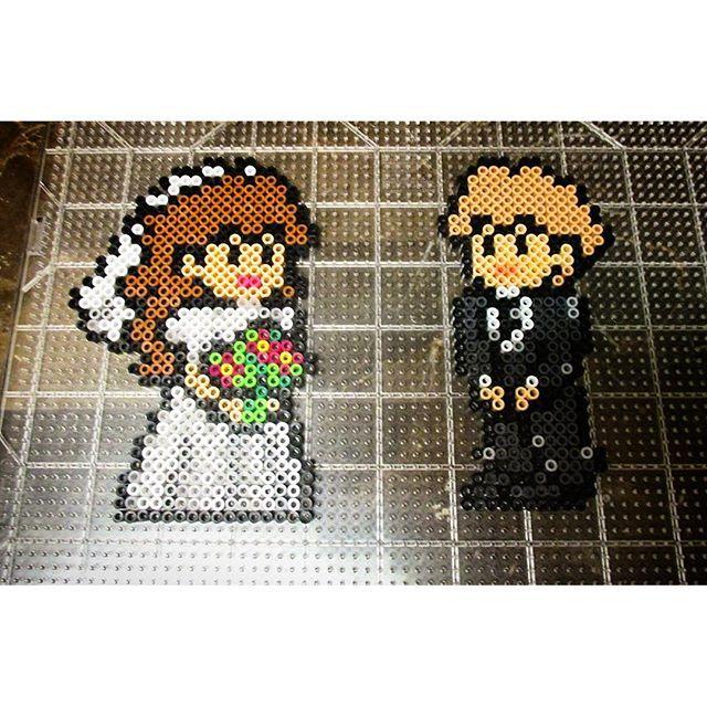 Bride and groom - Wedding perler beads by perlerking604