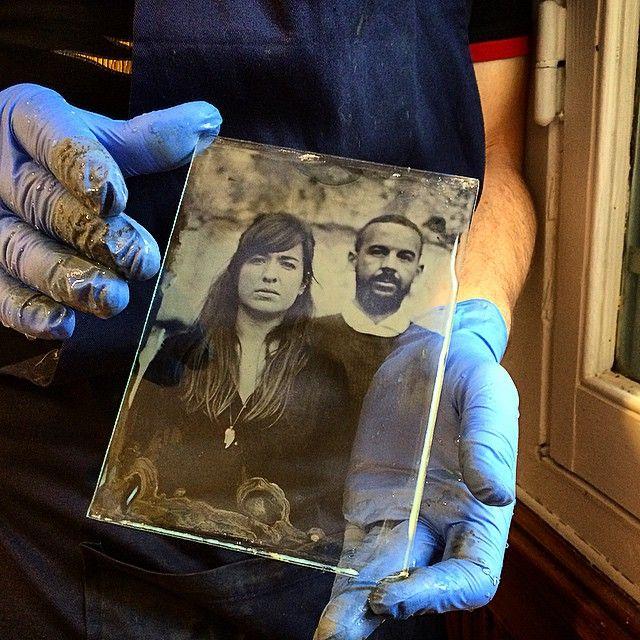 «Portrait au collodion humide.»