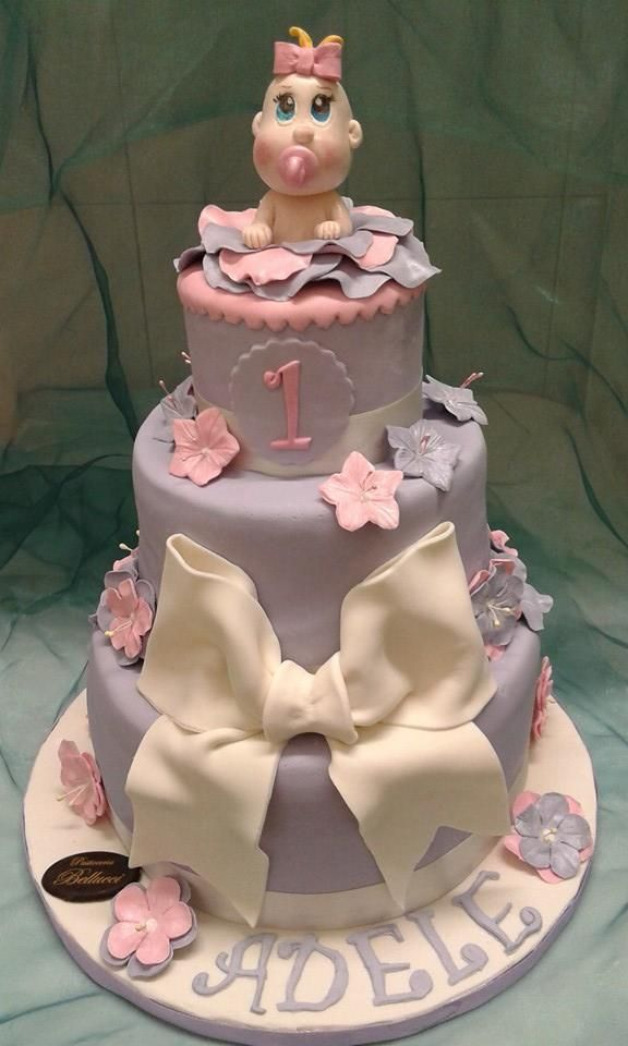 Torta di Compleanno decorata cake design Torta per Bimba di 1 anno Pasticceria Bellucci a Firenze