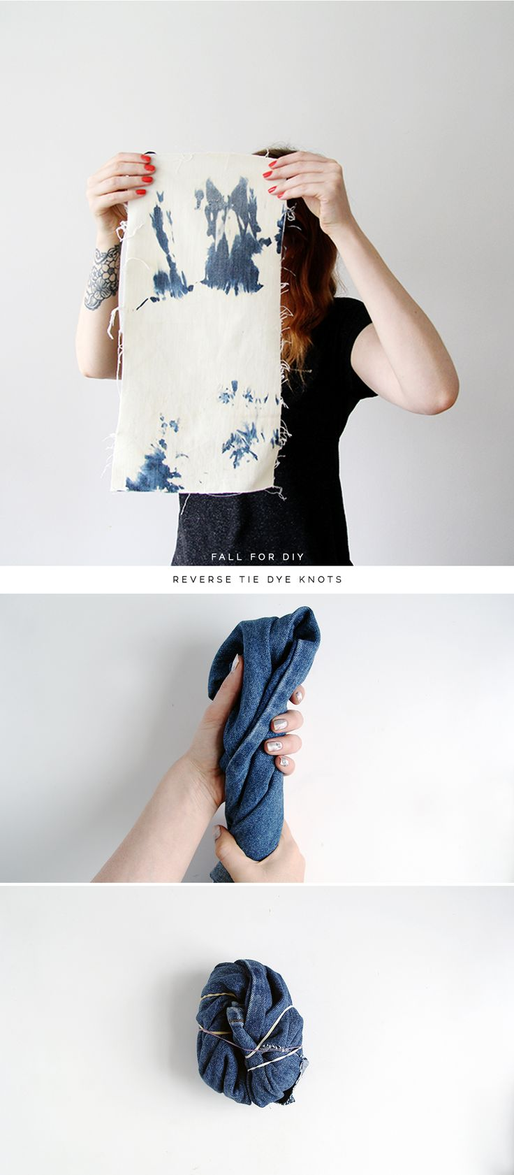 Fall For DIY Reverse Tie Dye Ties tutorial