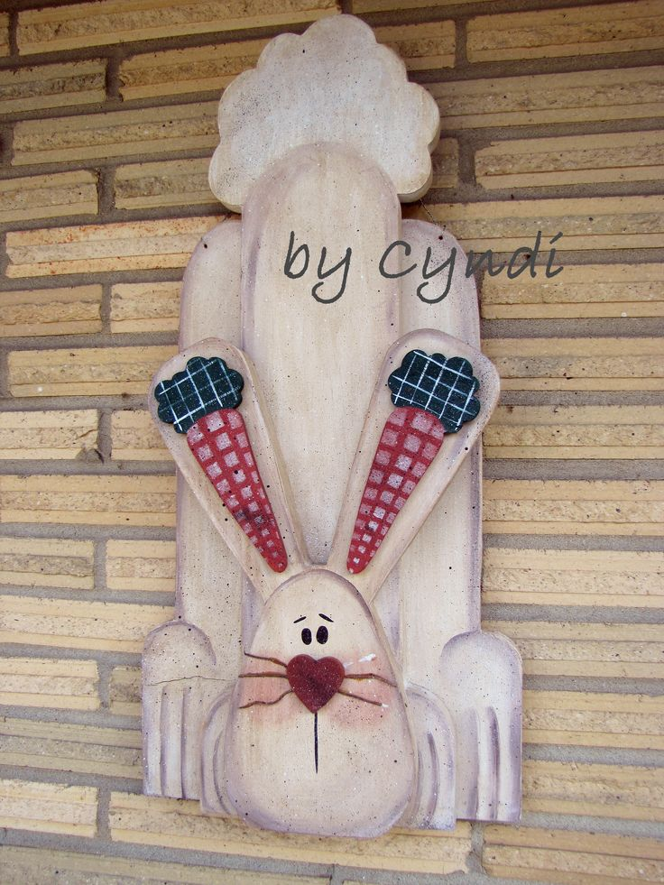 Wooden Easter Bunny - 12