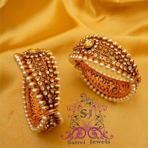 Beautiful Polki & Pearls #Bangles @ Craftsvilla Rs 2100