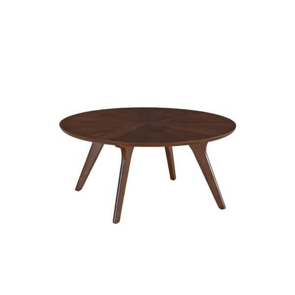 Mid Century Walnut Finish Hensen Round Coffee Table