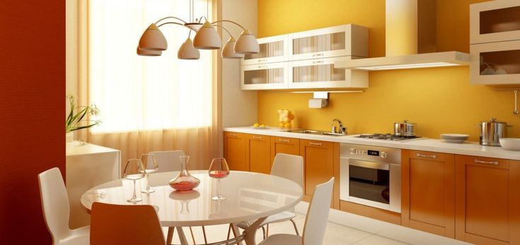 orange kitchen walls - Google Search