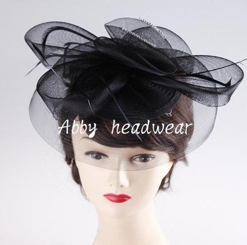 glitter van de strass versieringen tovenaar hoeden goede bruids bruiloft hoeden hoge kwaliteit cocktail hoofddeksels 3-delige/lot(China (Mainland))