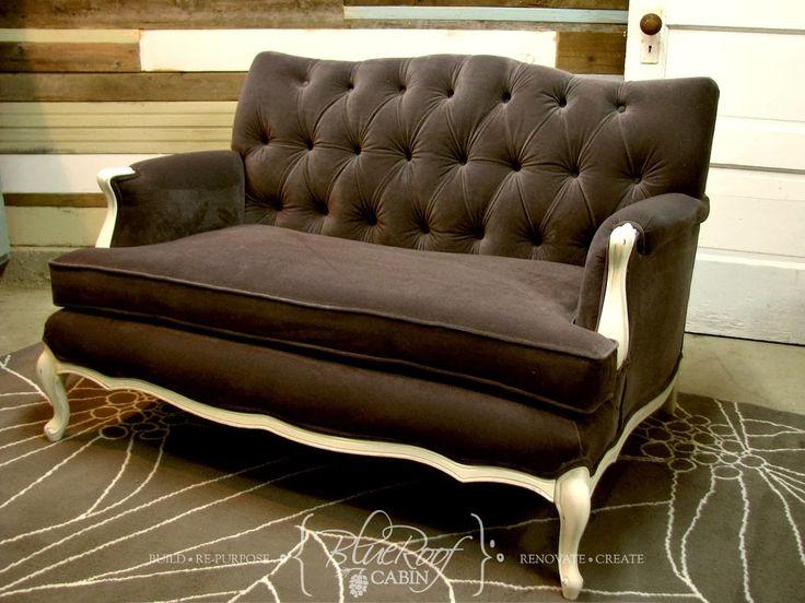 Vintage Sofa Project - Diamond Button Tufting