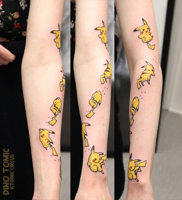 Pikachu Tattoo One of many fun tattoos i have done this week So now since im doing the youtube videos i have a lot less time to draw - so i guess i will be sharing a bit more of my tattoo work inst...