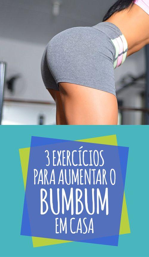 Estes exercícios para aumentar o bumbum poder ser feitos em casa porque não precisam de aparelhos e são fáceis de fazer. Eles ajudam a fortalecer a musculatura da região glútea, deixando-a mais firme e maior, sendo útil também para combater a celulite porque melhora a circulação sanguínea e linfática das pernas e do bumbum. #treino #bumbum #fitness