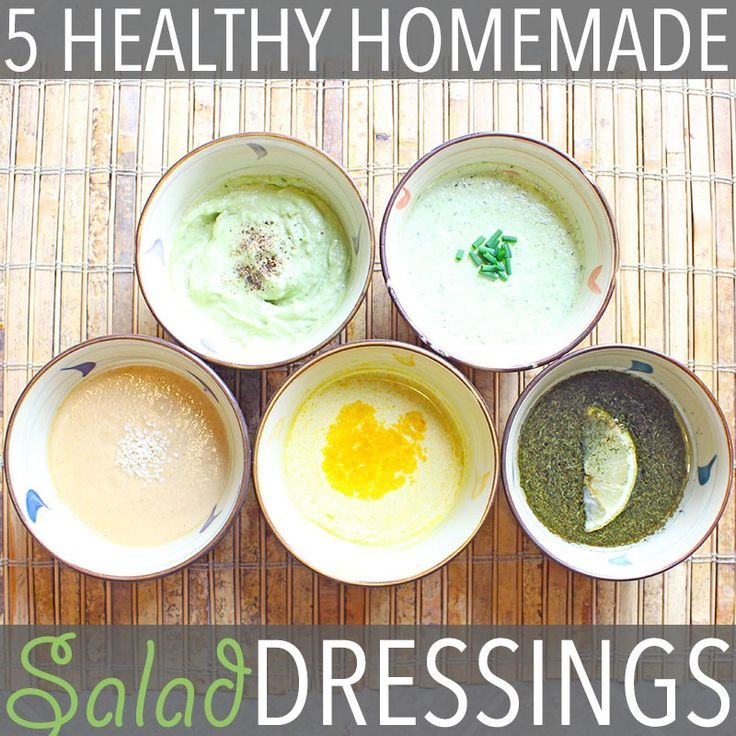 Healthy Homemade Salad Dressing by Of Houses and Trees | Healthy homemade salad dressing takes a bit of extra work, but the benefits are so worth it. Here are five of my favourites!