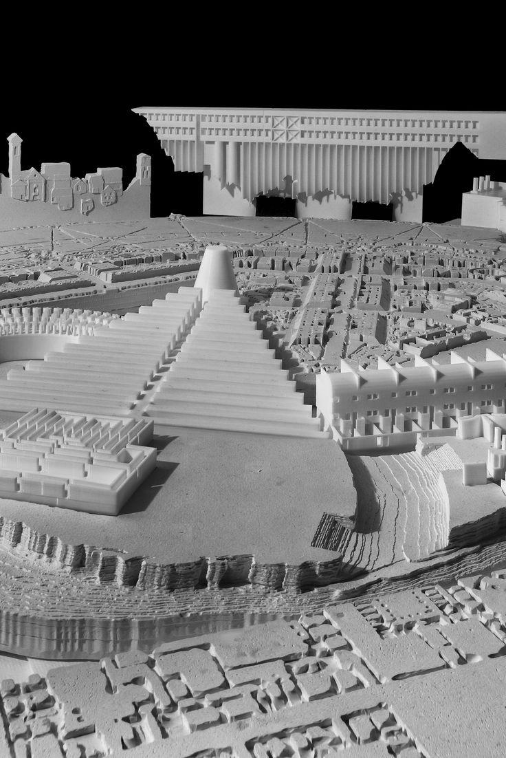 Aldo Rossi - La Tavola della Città Analoga Cast plaster and 3D printed mixed model