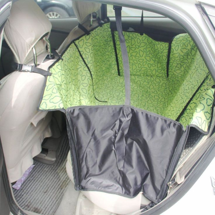 Waterproof Pet Car Seat Cover Dog Travel Mat for Rear Seat, Green Cloud