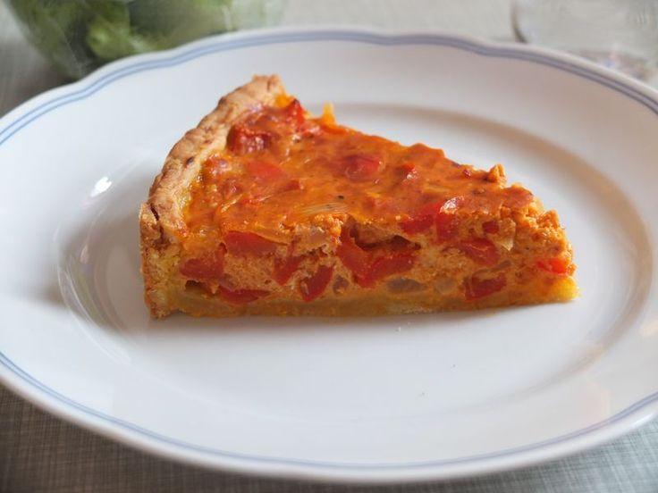 Paprika -  Ajvar -  Quiche, ein tolles Rezept aus der Kategorie Tarte/Quiche. Bewertungen: 71. Durchschnitt: Ø 4,5.