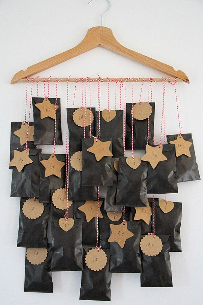 diy calendrier de lavent noir et craft