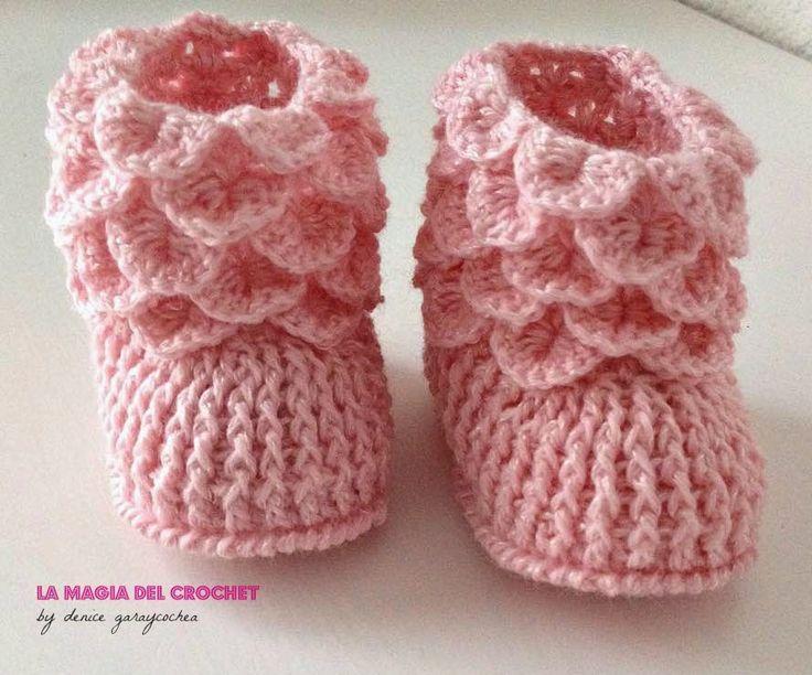 La Magia del Crochet: BOTITAS DE BEBE http://dghlamagiadelcrochet.blogspot.ch/ http://youtu.be/8afOxJUfTLw