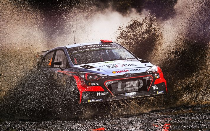 Download wallpapers Hyundai i20 WRC, 2017, rally car, racing car, competition, rally, WRC