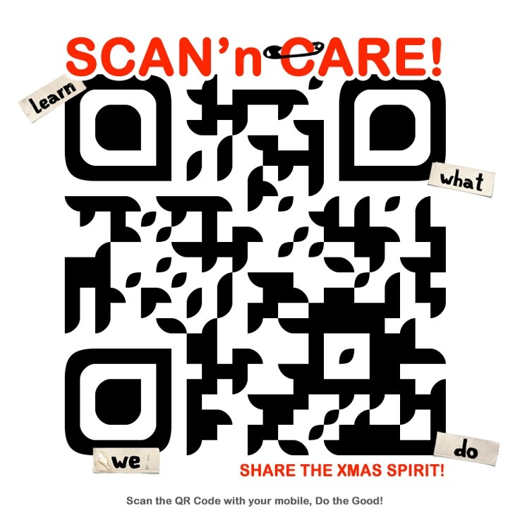 Bring the sunshine, scan and share because we care