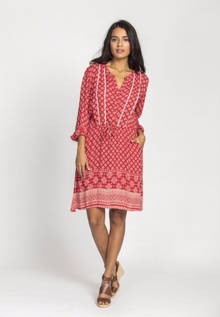 Solito - Lattice Shirt Dress In Hideaway