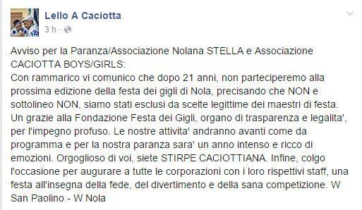 Il Tribunale riassegna il Bettoliere 2016 a Filomena Castagnini.