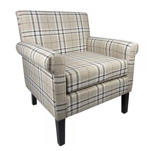 Elegant Heima Fabric Check Armchair By Sherman Is An Elegant Armchair Upholstered  In An Ultra Chic Check Fabric. The Perfect Addition For Any Room In The  Home.