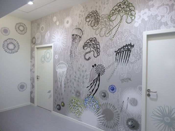 Design mural cr ation abysses de sophie briand for Deco murale graphique