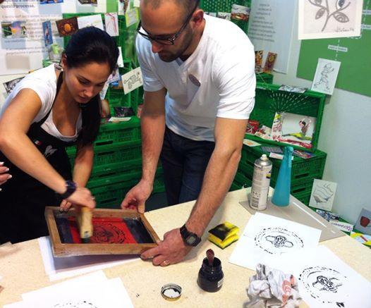 Arte in Movimento #aim14fiera #aim14 #serigrafia #silkscreen #printing #adrianacorderoatelier http://arteinmovimento2.wordpress.com/  © Colaboratorio Arte