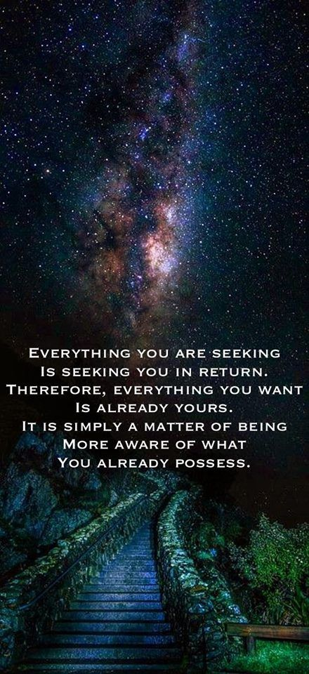 It is already yours