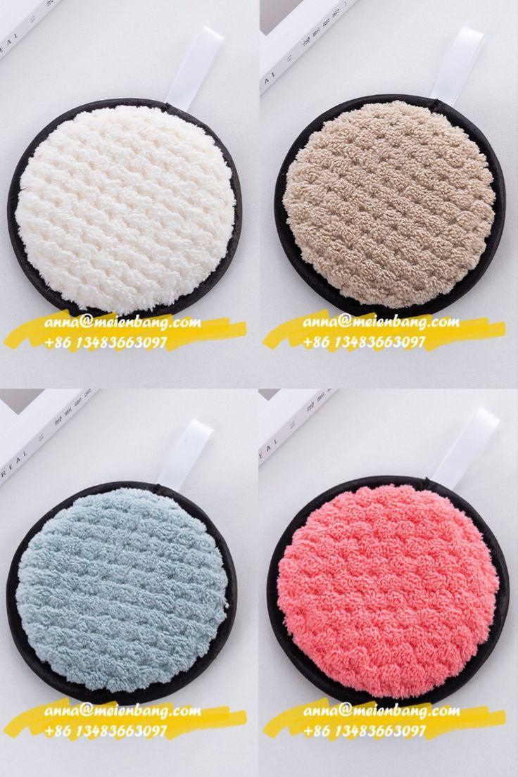 10*10cm Round Microfiber Remover Very Soft Makeup Pads